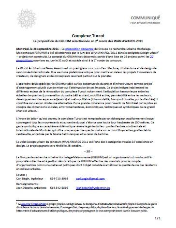 Turcot Press Release