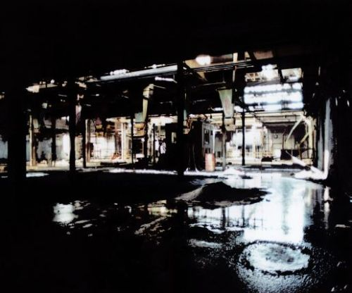 abandoned factory, Lachine, rain, Blade Runner