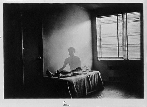Surreal, Photograph, Man, Ghost,bed,Duane Michals