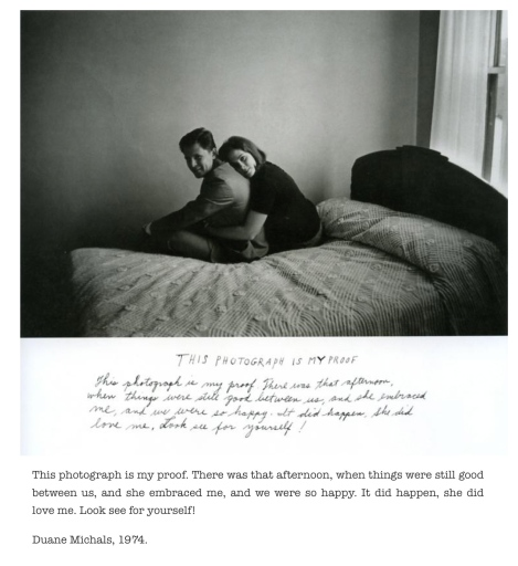 Couple,bed,text,proof,photograph,Duane Michals