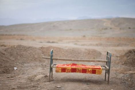Pictures of beds in landscape in Western China