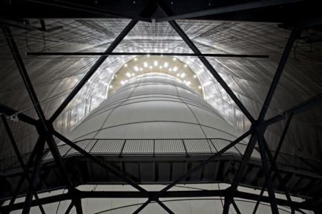 picture of Christo installation in gasometer,Big Air Package
