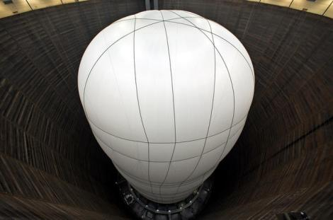 picture of Christo work in a gasometer,Big Air Package