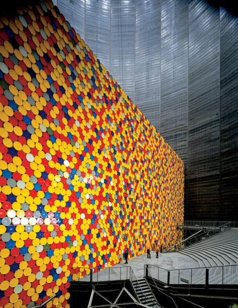 Christo installation,13,000 barrels