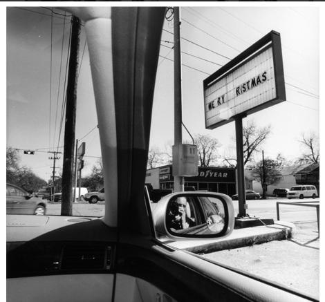 self portrait by Lee Friedlander from inside his car