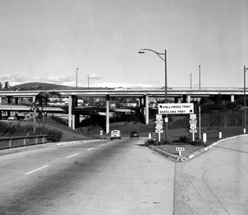freeway,losabgles,fifties,photograph