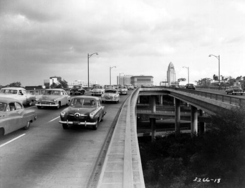 freeway,losangeles,fifties,