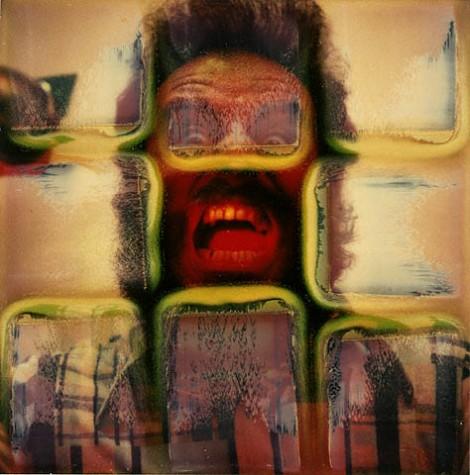 Polaroid self portrait by Lucas Samaras