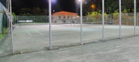 photograph of tennis court in Verdun