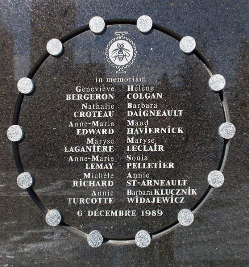 Names of  14 woman killed in Montreal on December 6, 1989