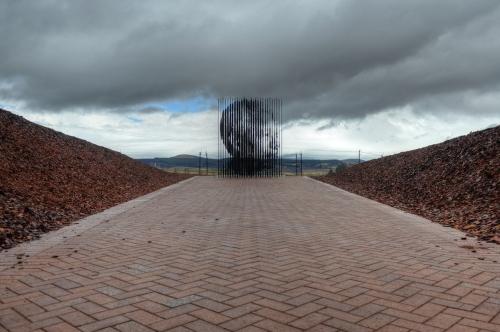 Sculpture of Nelson Mandela's Profile