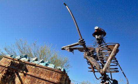 photograph of miner's memorial in Arizona