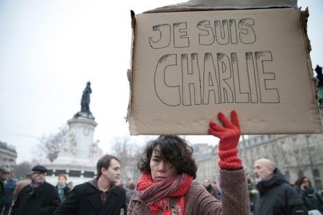 Paris,Charlie Hebdo,Woman,Placard,Murder