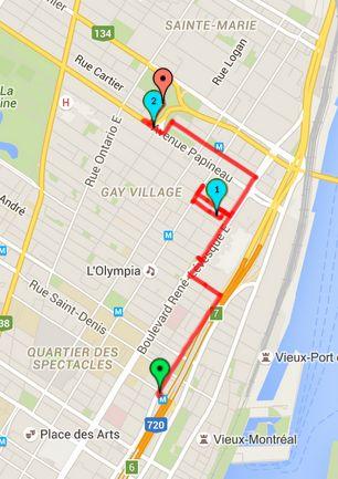 Walk # 1 Map