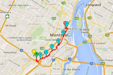 Walk #7 Map