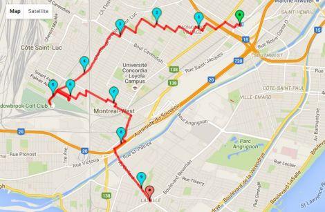 Walk # 8 Map