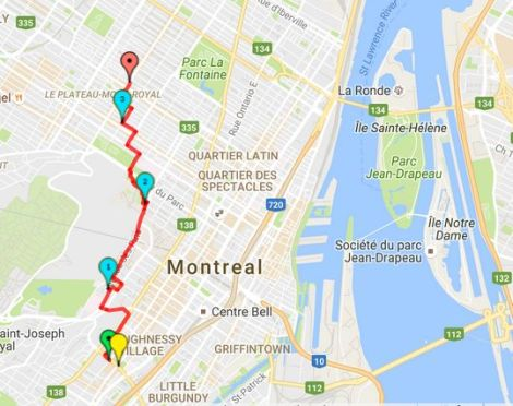 Walk # 16 Map