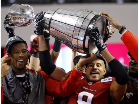 The Calgary Stampeders win 102nd Canadian Football League Grey Cup at B.C. Place in Vancouver on Nov. 30, 2014