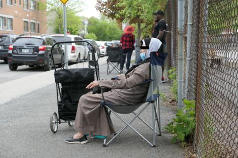 Woman Waiting, Verdun, Quebec, May 25, 202
